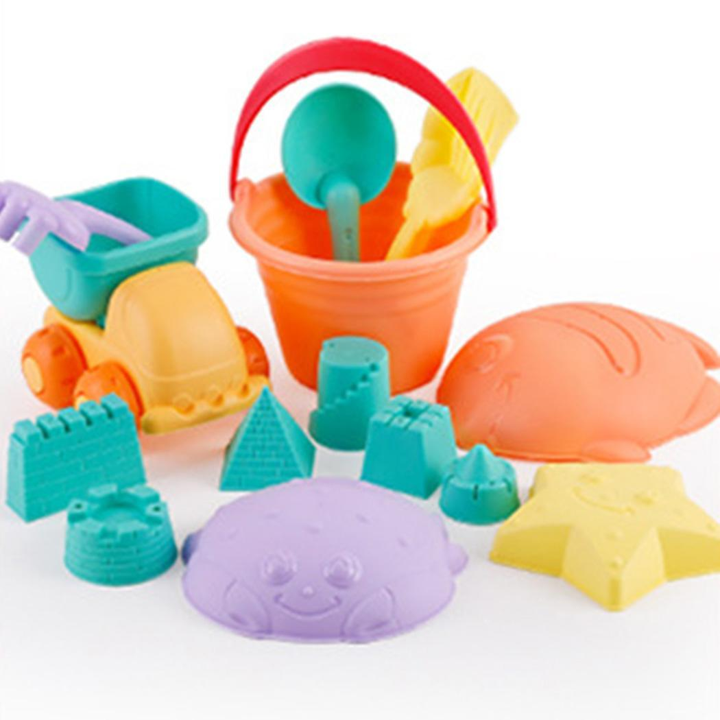 Baby Plastic Summer Seaside Sand Buckets Rakes Shovels Beach Multicolor Toys Beach, Set > 3 Years