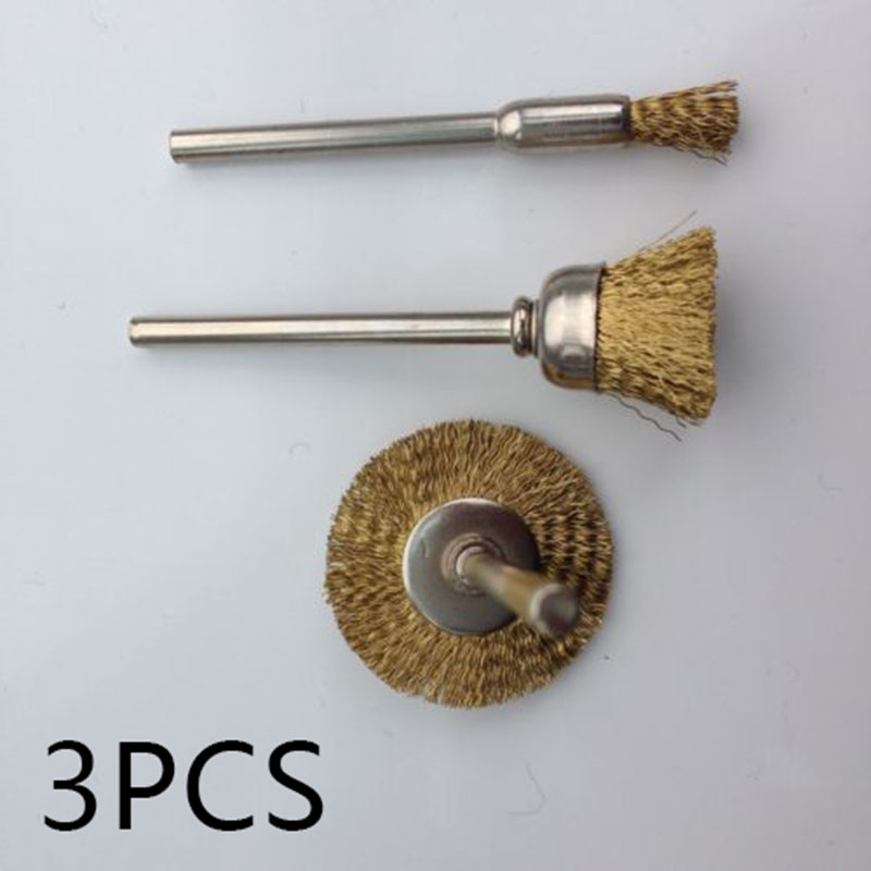 3PC ROTARY WIRE WHEEL OR CUP BRUSH SET FOR DRILL FOR PAINT, RUST REMOVA REPLACE