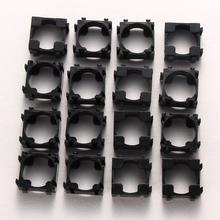 100Pcs 18650 Battery Safety Anti Vibration Holder Cylindrical Bracket 22x22mm pc+pp+gp Meterials Lithium Batteries Support Stand