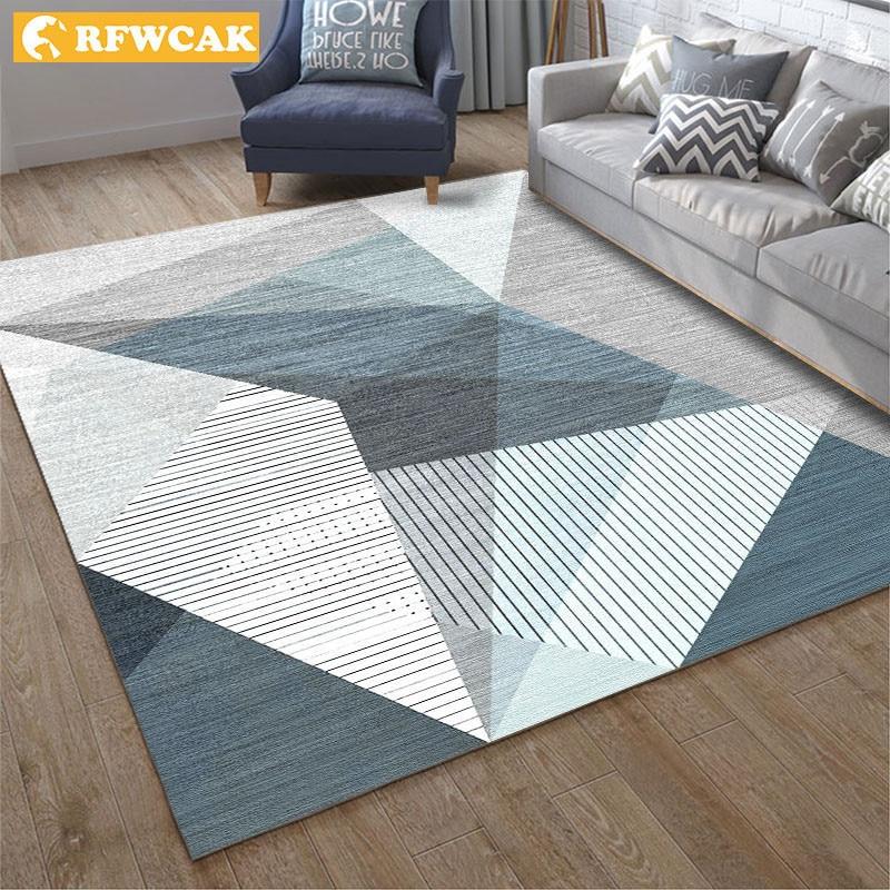RFWCAK современный геометрический ковер для гостиной спальня Противоскользящий большой напольный коврик дети Tapete модные кухонные ковры коврики