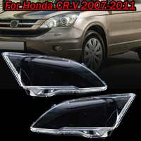 Pair Front Headlight glass transparent lampshade PC lampshade Anti cracking lens shell for Honda CRV 2007 2008 2009 2010 2011
