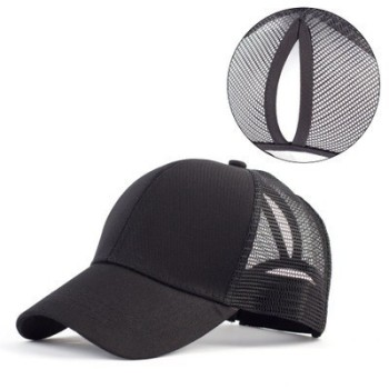 2019 Ponytail Baseball Cap Messy Bun Hats For Women Washed Cotton Snapback Caps Casual Summer Sun Visor Female Outdoor Sport Hat 2