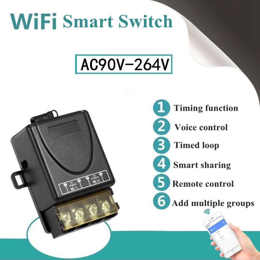 Smart Home WiFi Wireless Switch Module For Apple For Android APP Control Smart Switch Remote Control Power SwitchSmart Home WiFi Wireless Switch Module For Apple For Android APP Control Smart Switch Remote Control Power Switch