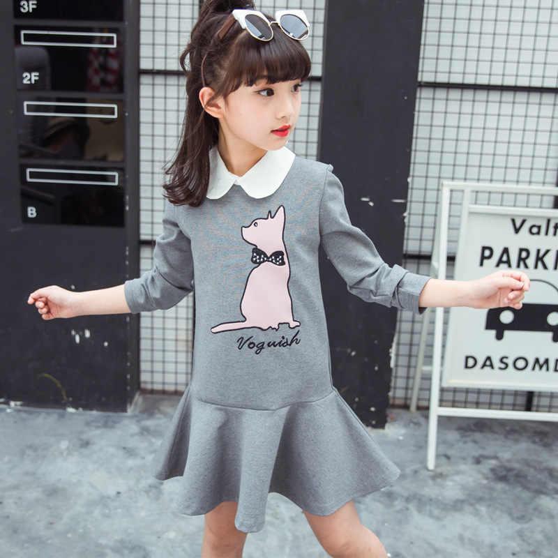 5ad8f6d0ab ... Girls cartoon Dress 2019 spring autumn dress little girl print Clothing  kids dresses size for girls ...