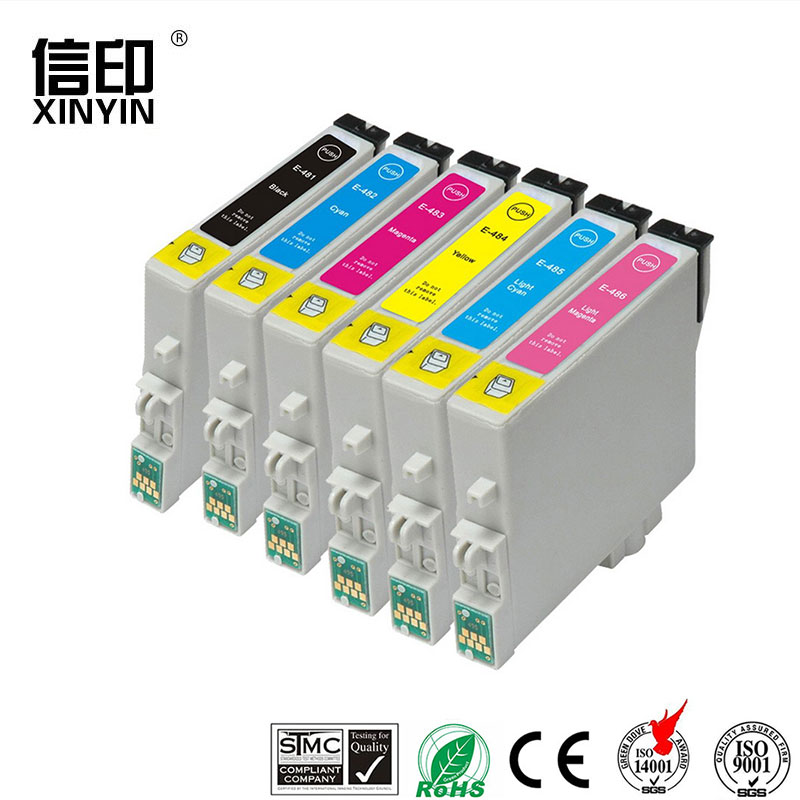 XColor T0481 -T0486 Compatible ink cartridge for Epson Stylus Photo R200 R300 R340 R300 R300M R320 RX500 RX600 RX620 RX640 image