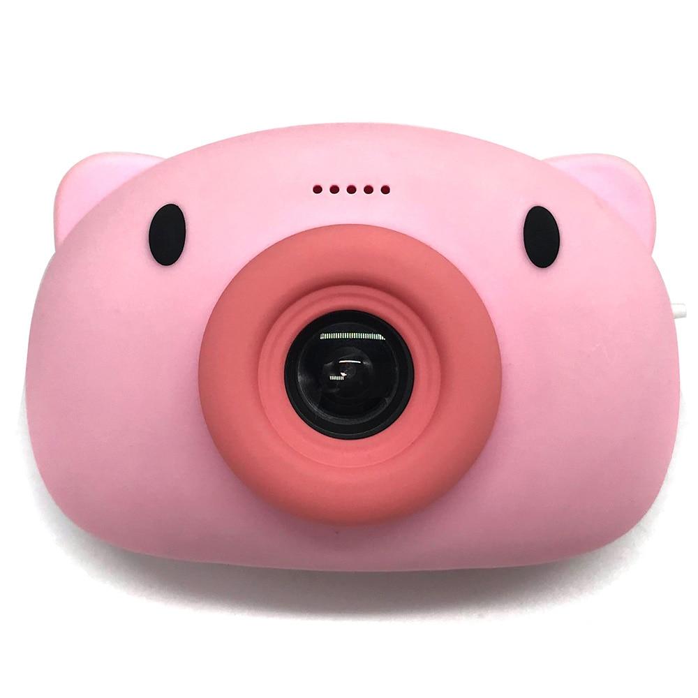 Mini Cartoon Pig Sports Camera Wireless Wifi Transmission 1920*1080 Resolution Sports Action Camera For Sports Kids Gift
