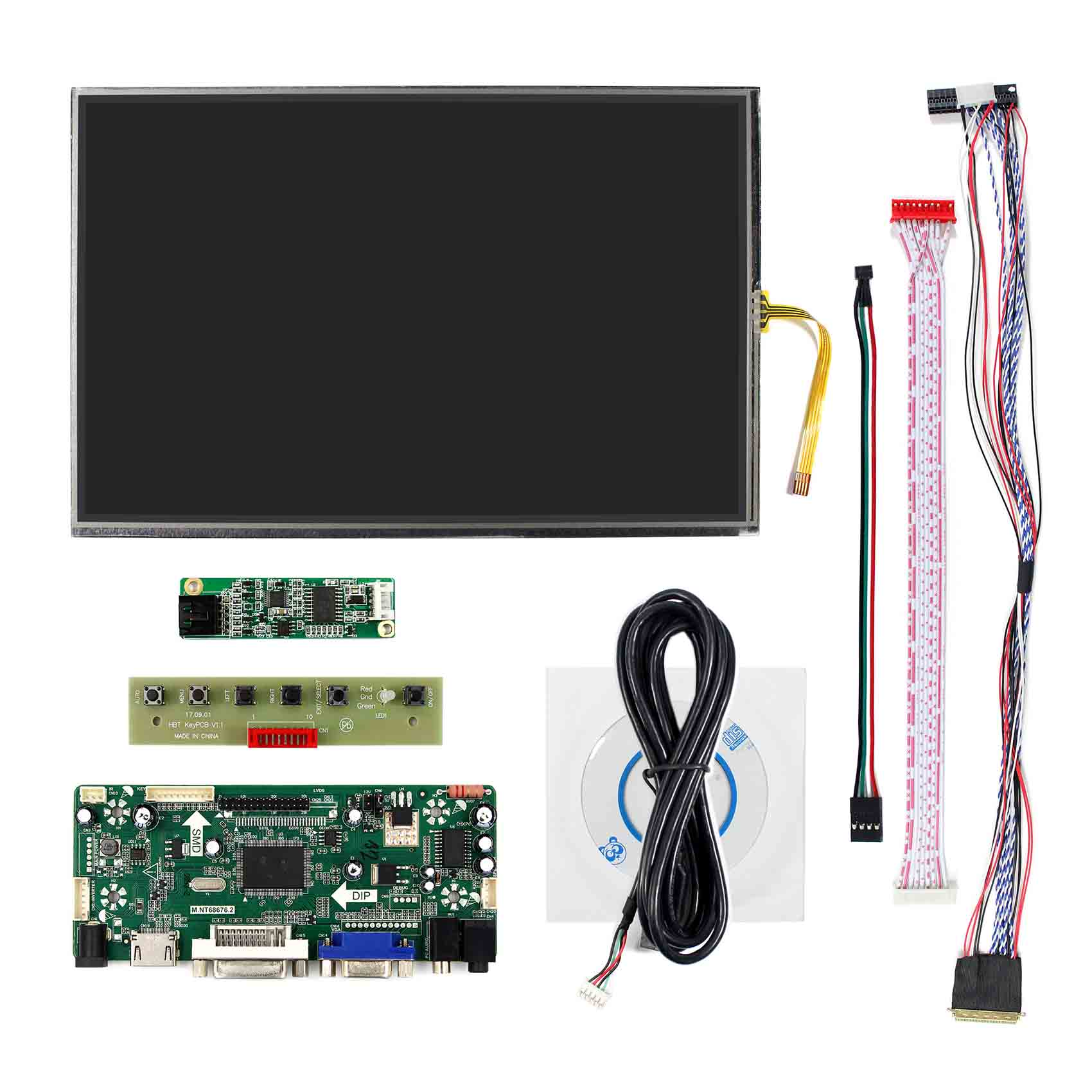 "HDMI Audio LCD Controller Board 7/"" N070ICG LD1 1280x800 Tactile Capacitif LCD"