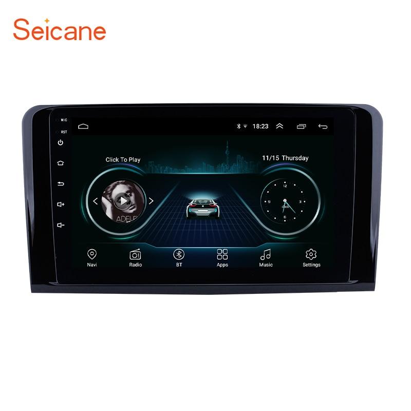 Autoradio Seicane Android 2Din Autoradio GPS Navigation pour 2005 2006-2012 Mercedes Benz ML classe W164 ML350 ML430 ML450 ML500