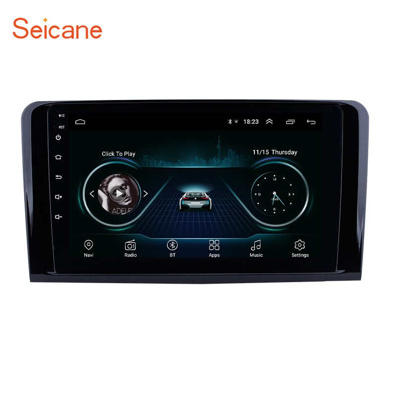 Seicane Android 8.1 Car Multimedia player 2Din GPS <font><b>For</b></font> 2005 2006 2007-2012 Mercedes Benz ML CLASS W164 ML350 <font><b>ML430</b></font> ML450 ML500 image