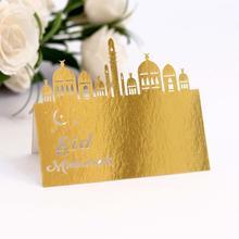 50 Uds. Tarjeta de corte por láser con número dorado, tarjeta de asiento, mesa de recepción Vintage, lugar, tarjetas, boda, decoración de fiesta de cumpleaños