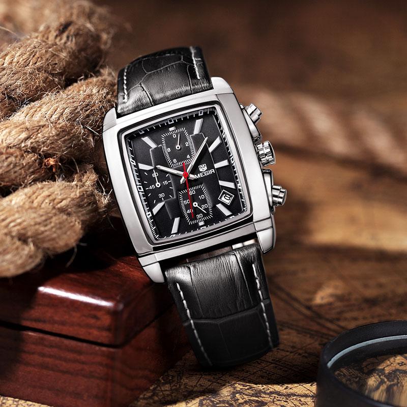 MEGIR Relojes de pulsera de cuarzo militar de los hombres de la moda - Relojes para hombres