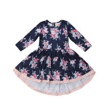 Lovely Kids Dresses For Girls Purple Floral Print Party Wedding Gown  Clothes Long Sleeve Tulle Tutu Dress Girls Gifts Dropship 3ab7b17a1e74
