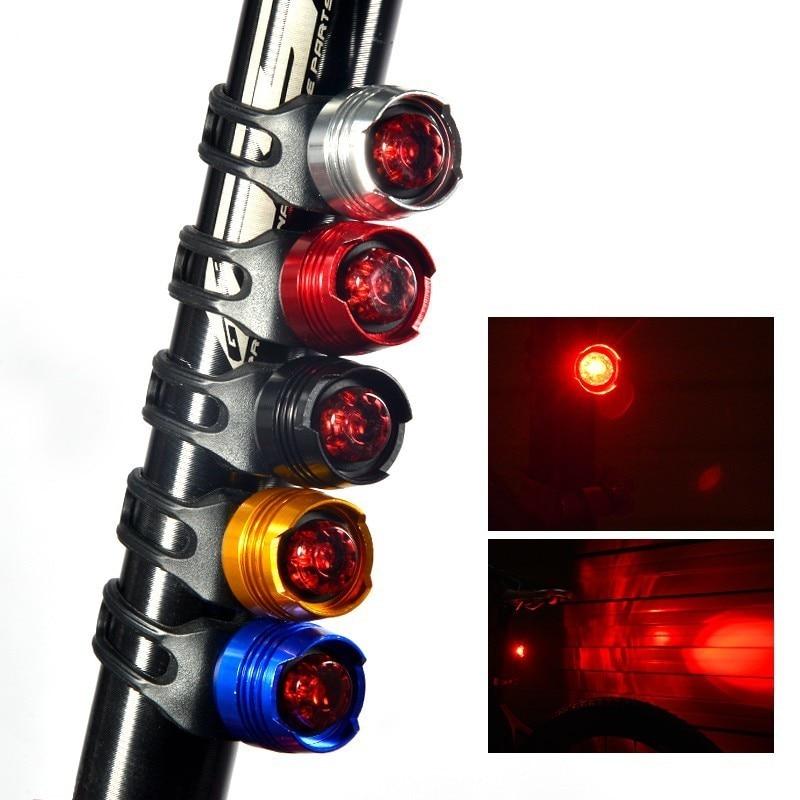 Bike Rear Light Warning Safety Waterproof Bicycle Flashlight Lights Lamps Tail