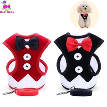 Small Dog Harness Nylon Breathable Puppy Vest Pet Walking Harnesses And Leash Set For Chihuahua Dogs