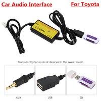 APPS2CAR Car Audio Интерфейс MP3 USB/SD адаптер 12 P подключения цифровой cd-чейнджер для Toyota