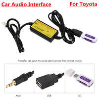 APPS2CAR Car Audio Interface MP3 USB / SD Adapter 12P Connect Digital CD Changer for Toyota