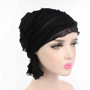 Image 4 - Muslim Cap Women Hat Hijab Ruffle Ladies Cancer Turban Chemo Cap Abaya Beanie Scarf Cap Head Wrap Hat Inner Cap Bonnet Fashion