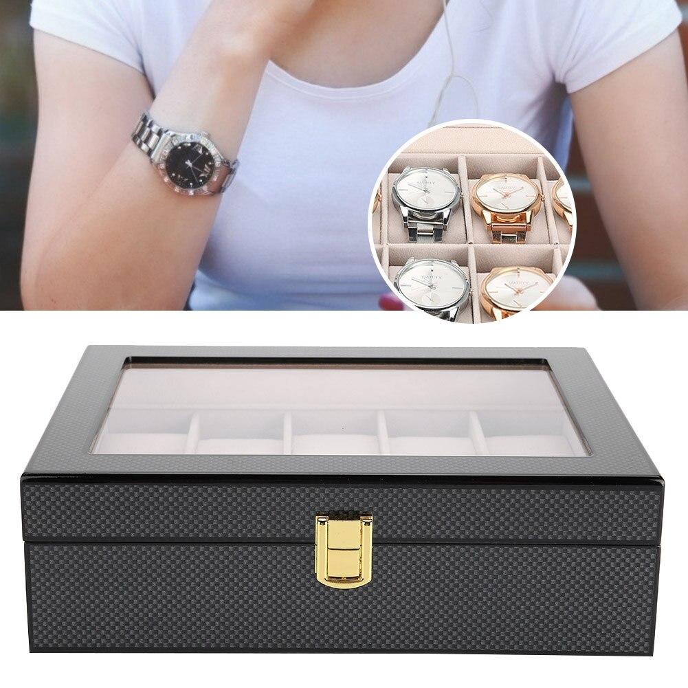 10 Grids Holz Gemalt Uhr Display Lagerung Fall Uhr Schmuck Organizer Box Für Uhr Lagerung Box Fall Schrecklicher Wert