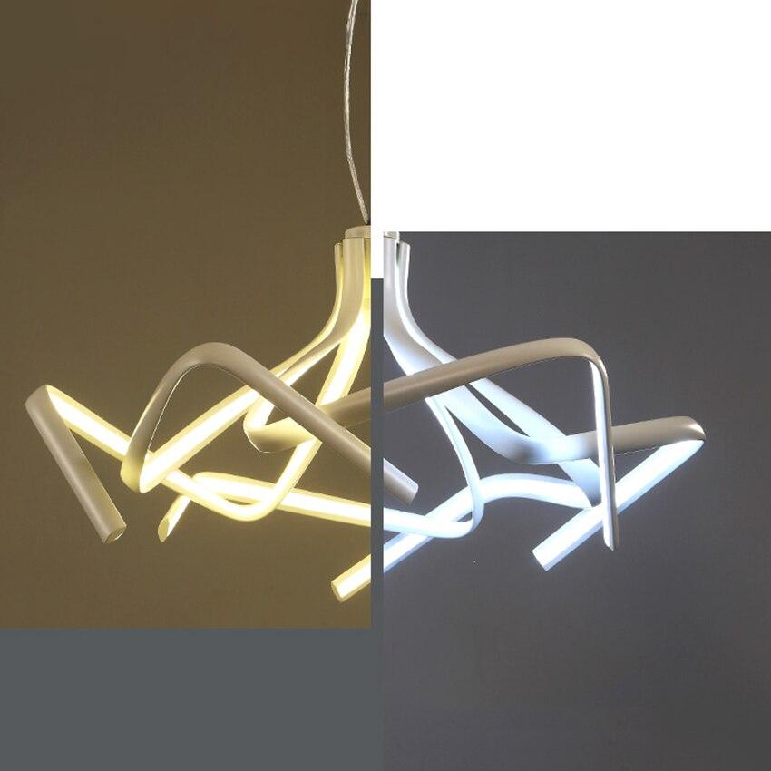 Постмодерн открытый подвесные светильники кухня светильники обеденная бар Shadow танец Подвесная лампа для спальни обеденная Декор подвесно