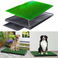 Dog Potty home Training Toilet Pad Grass Surface Pet Litter Box Park Mat Outdoor Indoor Training SuppliesFree Shipping