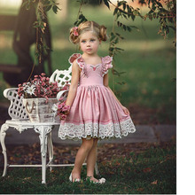 Floral Girls Dress Sleeveless Baby Clothes Party Princess Girl Summer Dress Tutu Birthday Kids Dresses For Girls Robe Fille