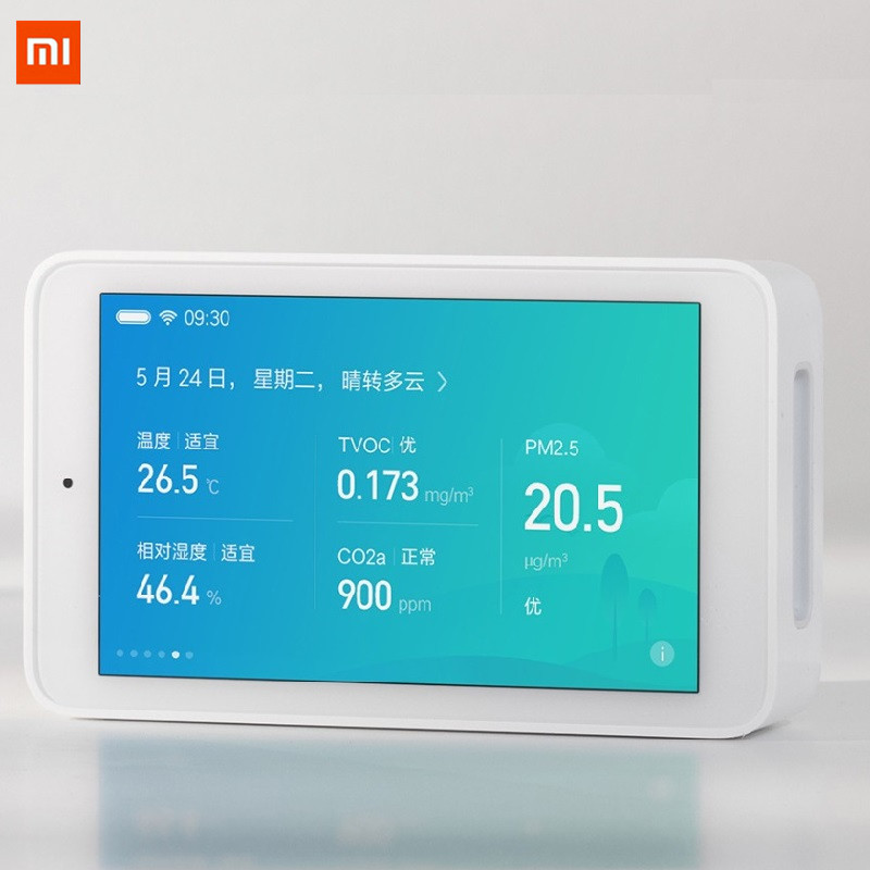 Xiaomi Mijia Air Quality Tester Touch screen Remote Monitoring TVOC CO2 PM2.5 Temperature and Humidity Measurement App Control