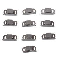 10 Pcs Silver Metal Single Magnet Lock For Cabinet Door Cabinet|Door Stops| |  -