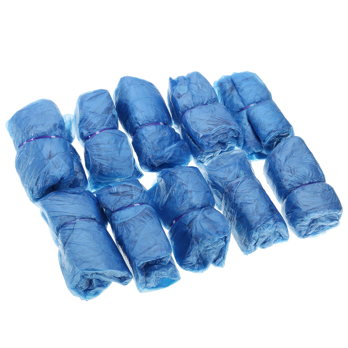 Blue Plastic Disposable Rain Cleaning Shoes Protective Cover Overshoes Resist Water Dirt And Mud Shoes Protective 100PCS