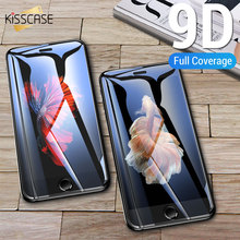 KISSCASE Screen Protective Glass For iPhone7 8 Plus Screen 9D Protector For iPhone X XR XS MAX 6 6s 5 5s SE Tempered Glass Cover