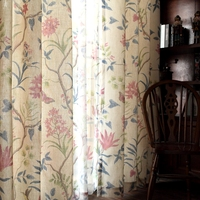 Curtains, pastoral, small American country, cotton, linen, Jane's living room, bedroom window finished.