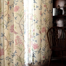 Curtains, pastoral, small American country, cotton, linen, Jane's living room, bedroom window finished. mcmullen a small country living goes on