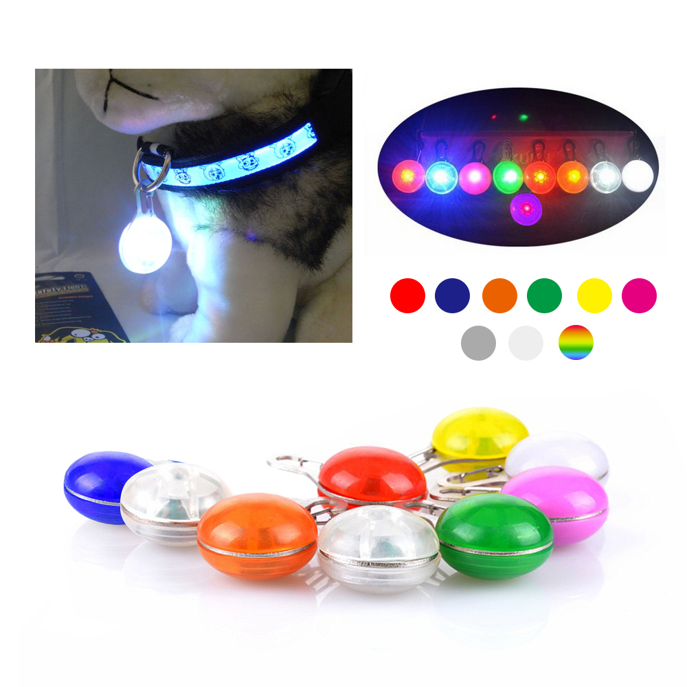 Access Control Nice Colorful Clip-on Safety Night Light Pet Collar Keychain Light Led Waterproof Safety Night Walking Lights For Dogs And Cats Security & Protection