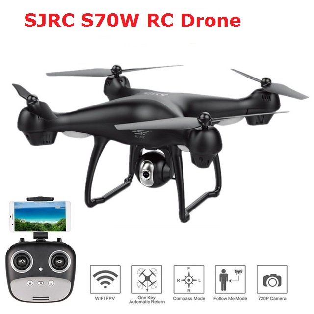 S70W GPS FPV RC Drone With 1080P HD Adjustable Wide-Angle Camera WiFi Live Video Follow Me GPS Return Home RC Quadcopter Dron image