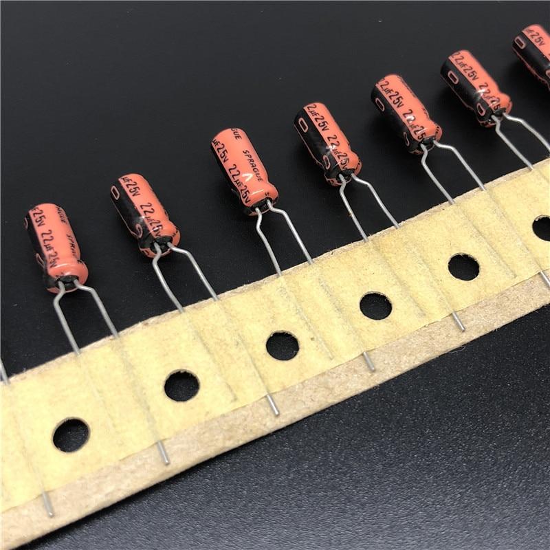 10Pcs/100Pcs 22uF 25V SPRAGUE 515D Series 5x11mm 25V22uF Audio Capacitor