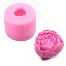 Molde de jabón de flor de Rosa de silicona 3D, molde de Chocolate DIY, molde de Chocolate hecho a mano para pastel, dulces para hornear, moldes para manualidades hechas a mano