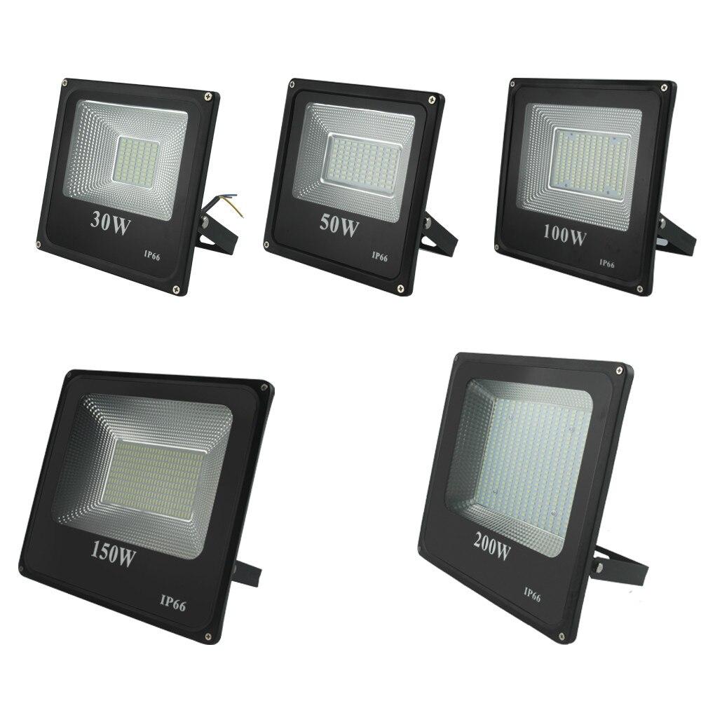 CHENGYILT LED Flood Light 30W 50W 100W  200W AC220V Waterproof IP66 Spotlight Outdoor Garden Lamp Led Floodlight Lighting