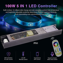 Mi Light PX1 100W 5 IN 1 LED Controller DC24V Built-in power LED light with controller aluminum case WiFi/voice remote control 2 4g 4 groups remote control mi light led wifi controller 4x led rgb controller
