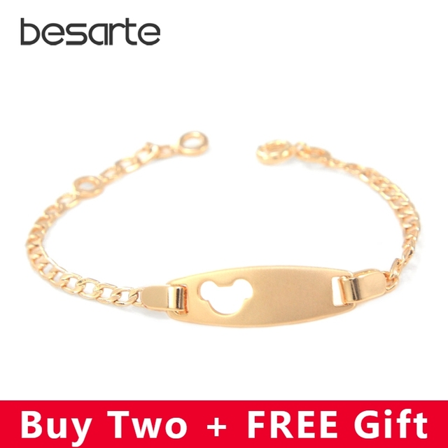 b1f04e00d715 16.5CM Mice Face Baby Bracelet Bebe Pulseira Kids Jewelry Bijoux Enfant  Pulsera Brazalete Bracciali Nina
