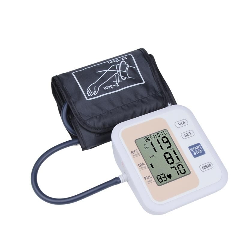 Automatic Digital Upper Arm Blood Pressure Monitor Heart Beat Rate Pulse Meter Tonometer Sphygmomanometers pulsometer(China)