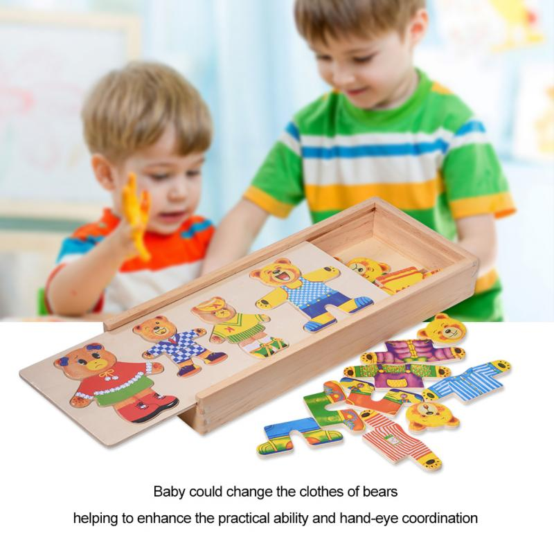Creative Children Early Education Wooden Puzzle Hand Wooden Jigsaw Puzzle Toys