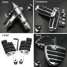Large Front Foot Pegs fit For 2009-2015 10 11 12 13 14 Honda Fury VT1300CX Tombstone footpeg Rest Pedal Billet Rubber Motorcycle