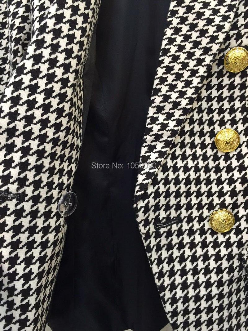Double À Rabat Blazer Breasted Poule Poches Poignets Designers Boutons Noir Top Luxe De Boutonné Blanc Blazers Qualité Or PSq4F40