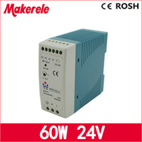 New Arrival Led Driver 60W Ac dc 24V Power Supply Din Rail Switching Power Supply With Ce Approved Micro Size MDR 60 24