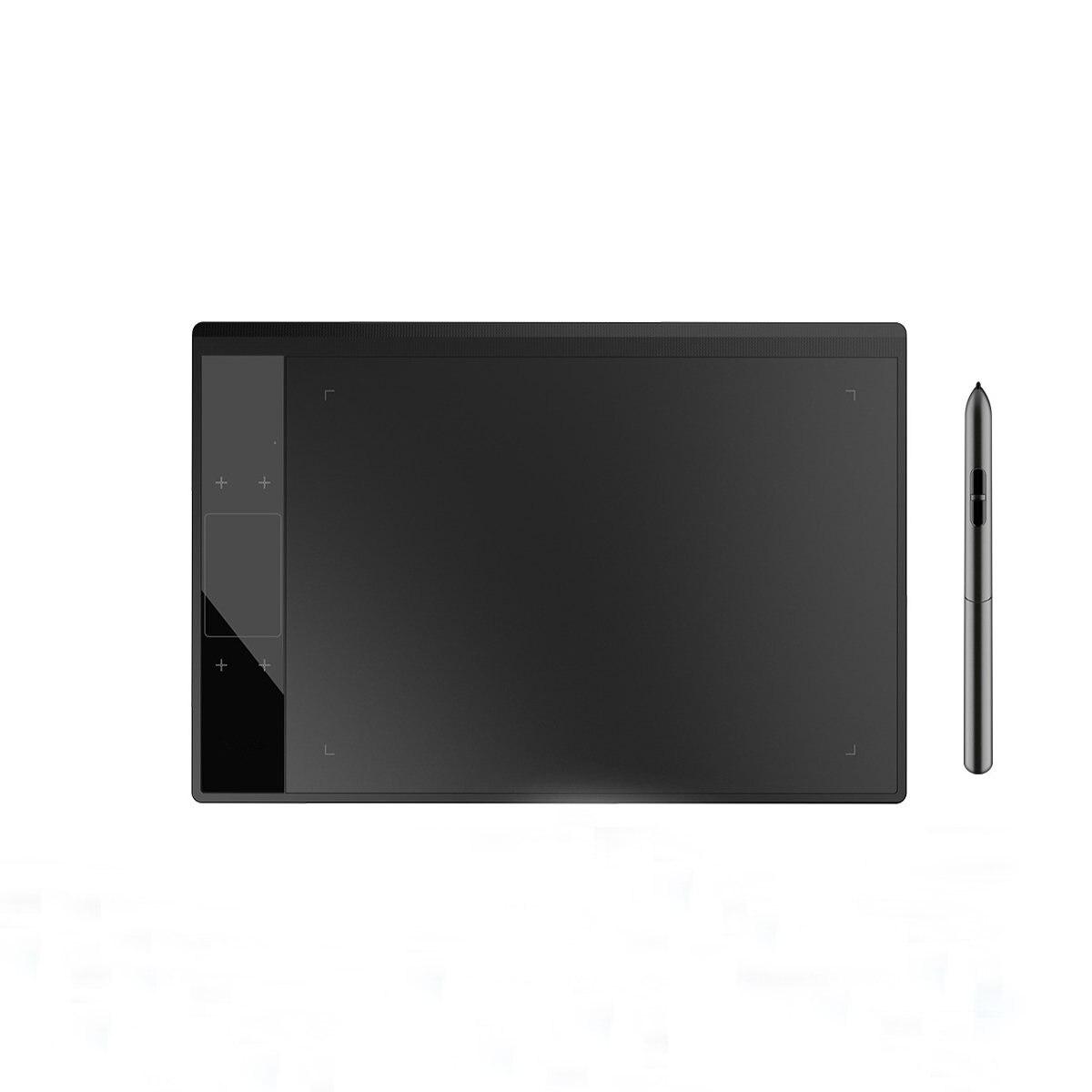 A30 Graphique tablette numérique tapis de dessin pour Illustrateur 10x6 pouces Grand Zone Active pour Artistes avec 8192 Niveaux Passive Stylo