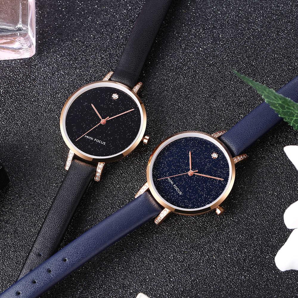 ミニフォーカス 2019 トップブランドの高級 Qartz 女性の腕時計ブルー星空ダイヤルファッションエレガントな女性腕時計姉妹ギフト + ボックス