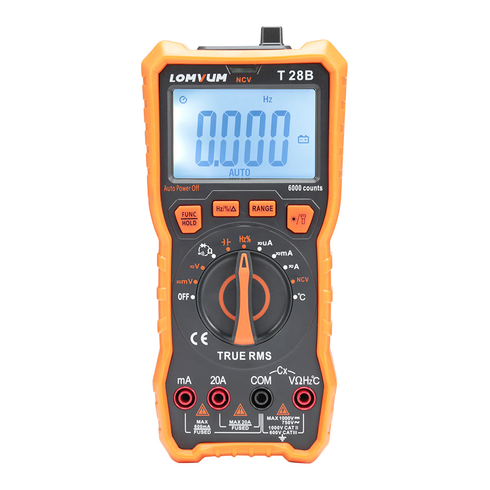Lomvum T28B High Precision LCD Digital Multimeter Portable Multimeters Electrical Instruments For Measure Voltage Current Diode