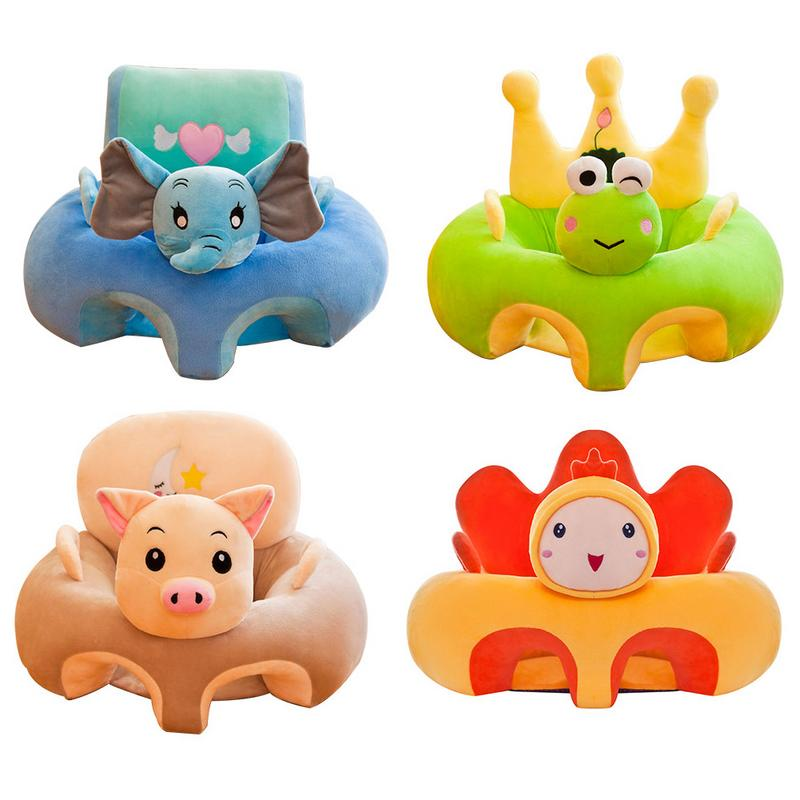 Baby Girls&Boys Cartoon Large Learning Chair Lightweight Children's Plush Toys Infant Sofa Safety Seat