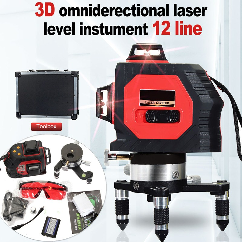 360 Rotary Slash Function12 Line 3D Laser Self Leveling Vertical & Horizontal Level Cross Laser Levels measuring Tool360 Rotary Slash Function12 Line 3D Laser Self Leveling Vertical & Horizontal Level Cross Laser Levels measuring Tool