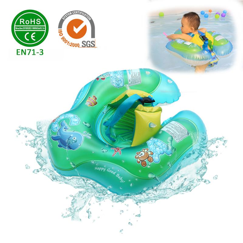 Environmentally Friendly Inflatable Baby Swimming Float Rollover Resistant Swimming Ring For 1.5 Months - 3 Years Old