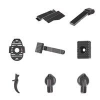8Pcs/set Water Gel Beads Parts Metal Fittings Accessories for JM Gen.10 ACR Water Gel Beads Blaster Black